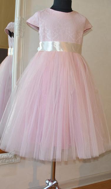 Нарядное платье для девочек Барокко - Пудра