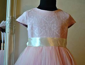 Нарядное платье для девочек Барокко - Пудра, фото 2