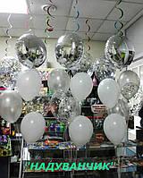 Фонтан круг+6шт. гелієвих кульок Вінниця