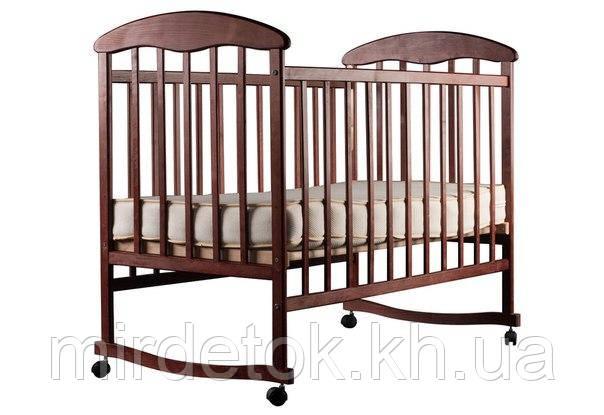Детская кроватка Наталка ольха темная