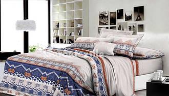 Двуспальный комплект постельного белья евро 200*220 хлопок (6535) TM KRISPOL Украина
