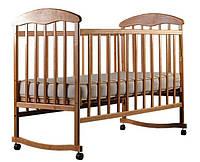 Детская кроватка Наталка ясень светлый с возможностью качания