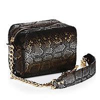 Модная женская сумочка из кожи питона