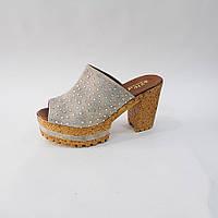 Босоножки сабо турецкие женские на каблуке Размер 36-40 8 пар