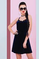 Темно-синее женское платье Evangeline FashionUp 42-48  размеры