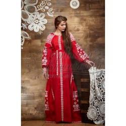 Заготовка-плаття під вишивку нитками ПЕ006лР Яскраво-Червоний
