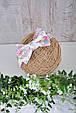 Набор слюнявчик+повязка, Россыпь цветов, фото 7