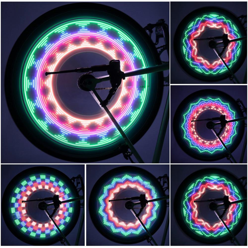 Красочная LED подсветка колес LC-D016, 32 светодиода, 32 рисунка