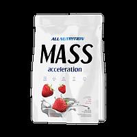 Гейнер Mass accelerotion 3 кг AllNutrition клубника