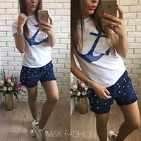 Женские модные джинсовые шорты с жемчугом или флагом