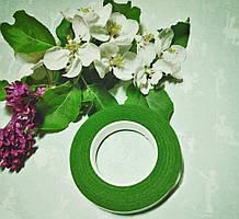 Тейп лента флористическая зеленый травяной,10 мм