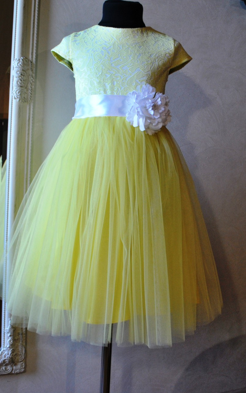 aebcc3c9951 Нарядное платье для девочек Барокко - Жёлтое - Подарункова майстерня  Compliment в Днепре