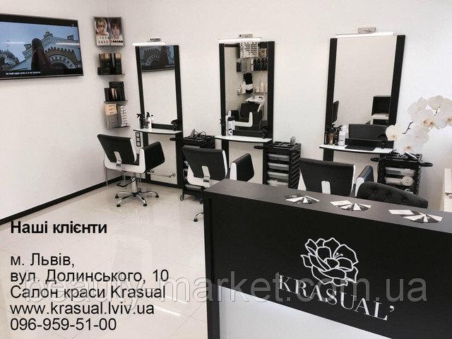 Парикмахерское кресло Orlando, Парикмахерское рабочее место Стилист, Тележка парикмахерская Easy Colour