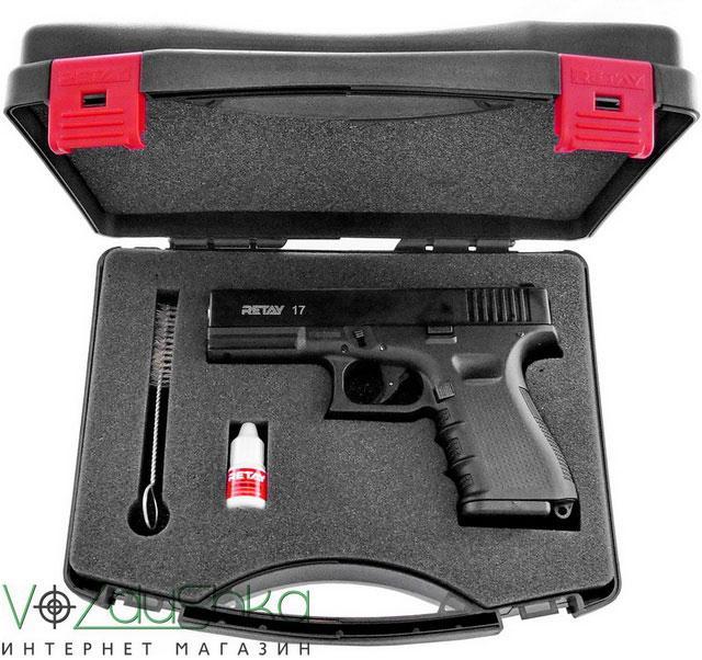 Комплектация стартового пистолета Retay G17