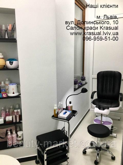 """Педикюрное кресло """"Портос зестав"""", Ультразвукова ванна Jeken (Codyson) CE-5200A, Стул мастера Бон для педикюра"""