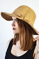 Шляпа  декорирована бантом