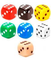 Набор кубиков d6 (разного цвета, 12 мм)  (Dice Set d6 multicolour (12 mm))