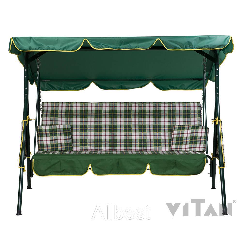 Садовые качели «Дача», зеленая для комфортного отдыха