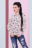 Молодежная женская блуза Туфелька пудра Fashion UP 42-48 размеры