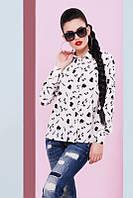 Молодежная женская блуза Туфелька молоко Fashion UP 42-48 размеры