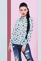Молодежная женская блуза Туфелька ментол Fashion UP 42-48 размеры