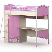 Серія «Pink» - Ліжко-горище з шафою BRIZ, фото 1
