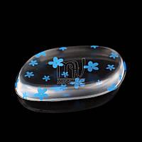 Силиконовая губка (спонж) для лица, голубые цветы