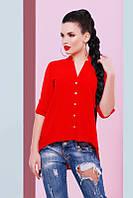 Стильная женская красная блуза Michelle Fashion UP 42-48 размеры