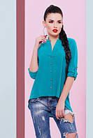 Стильная женская изумрудная блуза Michelle Fashion UP 42-48 размеры