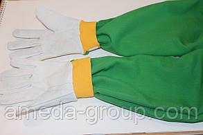 Перчатки кожзам с нарукавником, фото 2