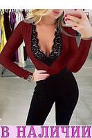 Эффектная приталенная блузка с вырезом сердце и гипюром Bonita