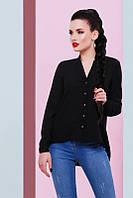 Стильная женская черная блуза Michelle Fashion UP 42-48 размеры