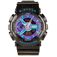 Часы спортивные CASIO G - SHOCK GA 110 Black Purple