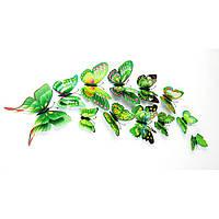 Бабочки для декора 5D, для дома, DIY green