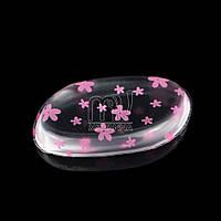 Силиконовая губка (спонж) для лица, розовые цветы