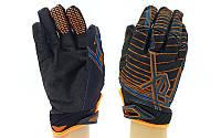 Мотоперчатки текстильные с закрытыми пальцами Fox 3906: текстиль, M-XL