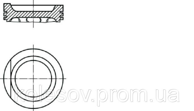 Поршні AUDI 80 (90, 100, Coupe) 1,8 д. 81мм.