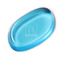 Силиконовая губка (спонж) для лица,  голубой