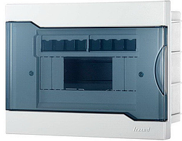 Lezard Бокс с прозрачной крышкой ЩРВ-П-4 для внутренней установки 8-ми модульных устройств