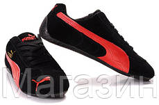 Мужские кроссовки Puma Ferrari Speed Cat (Пума Феррари) черные, фото 3