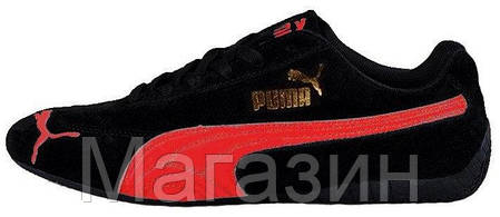 Мужские кроссовки Puma Ferrari Speed Cat (Пума Феррари) черные, фото 2