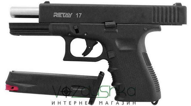 Retay G17 black с извлеченным магазином