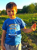 Футболка для мальчика синяя, Breeze. Рост 98 см., фото 1