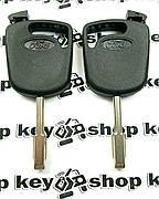 Корпус авто ключа под чип для FORD (Форд), лезвие FO21, с черной заглушкой
