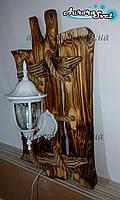 """Настенный декоративныфй светильник из дерева """"Древний Рим"""" (белый)"""
