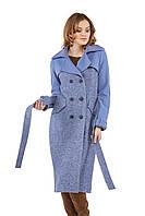 Женское пальто ПВ-23 Синий, фото 1
