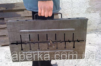 Мангал складной чемодан 12 шампуров , фото 2