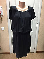 Платье женское летнее черное Camaieu натуральное
