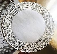 Салфетка бумажная круглая №28 белая (100 шт)