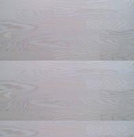 Паркетная доска Europarkett Ясень 3-полосный белый лак